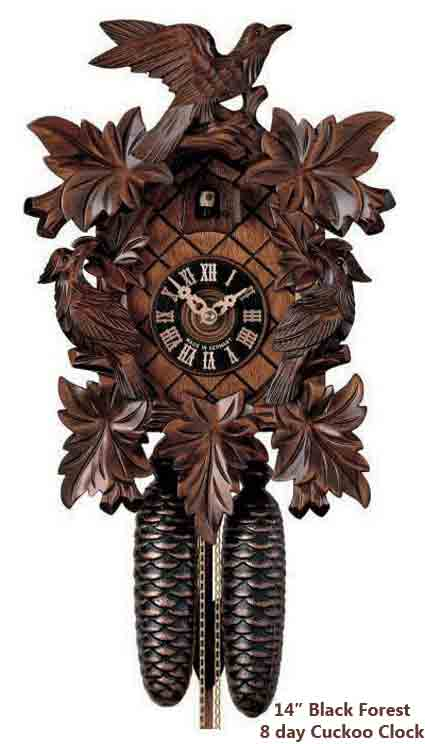 BFI8013 Black Forest 14 Inch 8 Day Cuckoo Clock