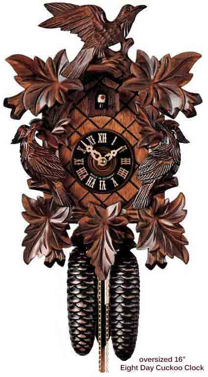 BFI8014 Black Forest 16 Inch 8 Day Cuckoo Clock