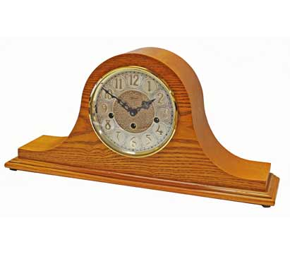 Hermle Laurel 21134-I90340 Oak Keywound Chiming Mantel Clock
