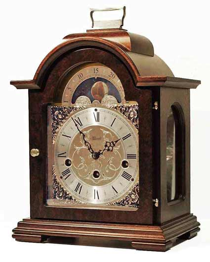 Hermle Debden 22864-030340  Keywound Walnut Mantel Clock