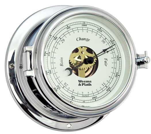 Weems and Plath 560733 Endurance II 135 Chrome Barometer
