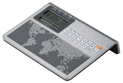 Howard Miller Desktop 645-761 World Clock and Calculator