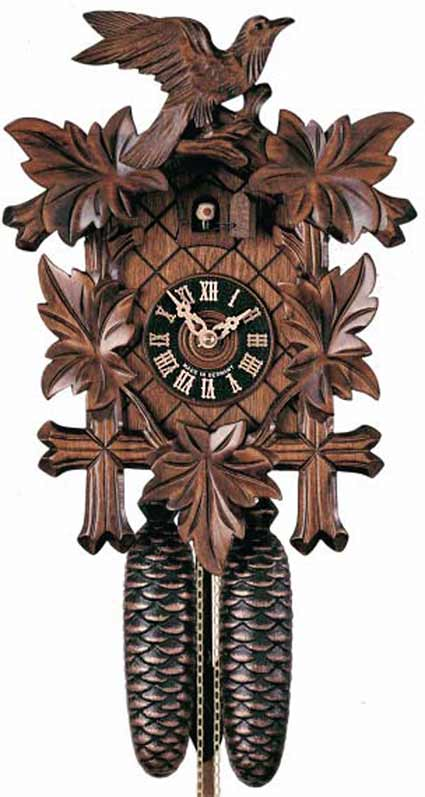 "BFI8003 14"" Black Forest 8 Day Cuckoo Clock"