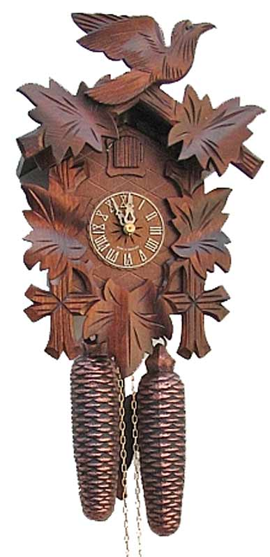 """Traditional 12"""" Eight Day Black Forest Cuckoo Clock"""