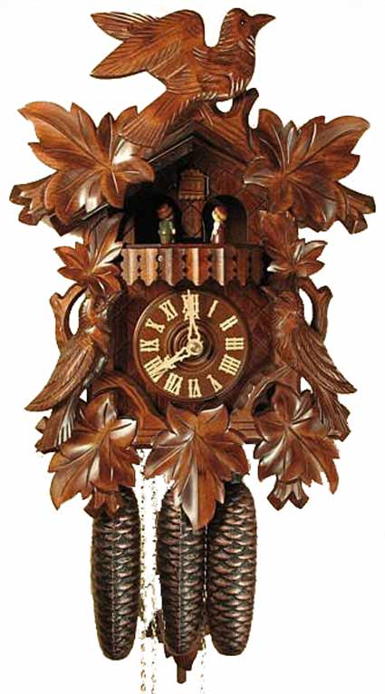 Black Forest 8343 Eight Day Music and Dancers Cuckoo Clock
