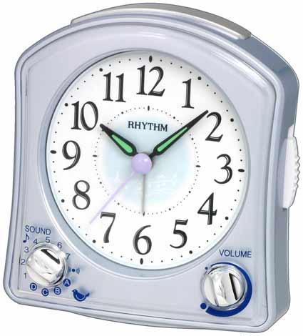 Rhythm 8RMA02WR04 Silver Robin Alarm Clock