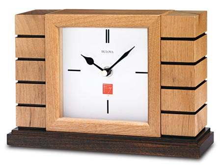Bulova B1659 Usonian II Non-Chiming Mantel Clock