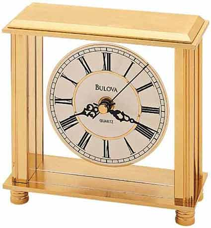 Bulova B1703 Cheryl Brass Table Clock