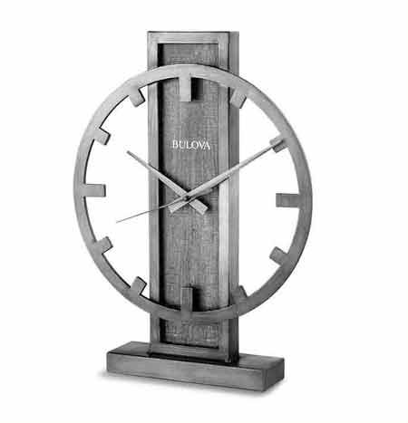 Bulova B1864 Silver Streak Desk / Mantle Clock
