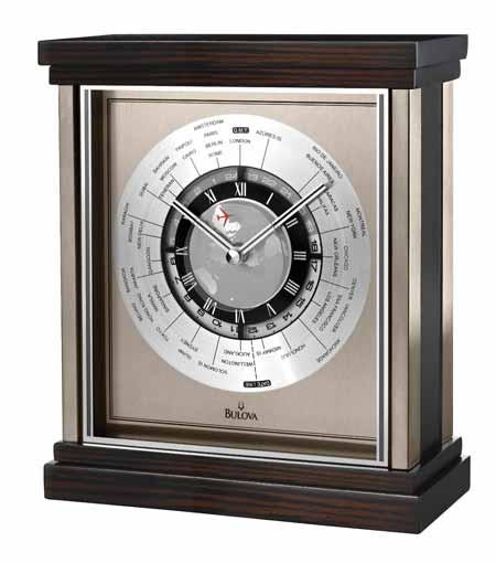 Bulova B2258 Wyndmere World Time Desk Clock The Clock Depot