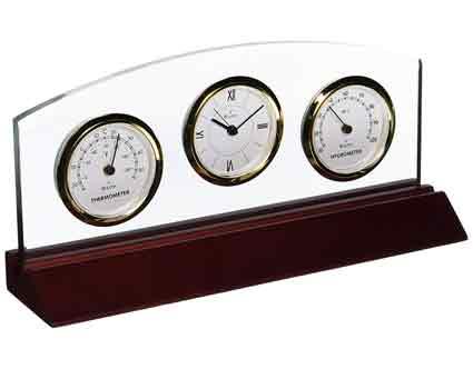 Bulova B2835 Weston Desktop Weather Center Clock