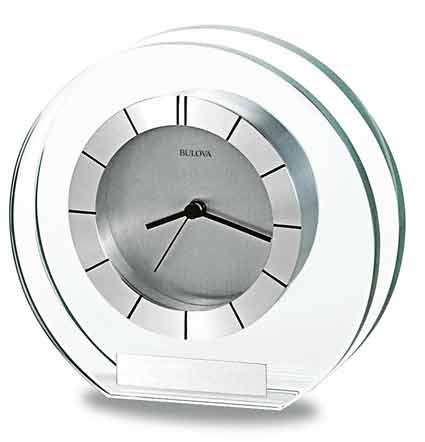 Bulova B2842 Accolade Mineral Glass Table Clock