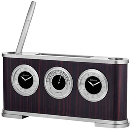 Bulova B5005 Woodside Executive Desk Clock