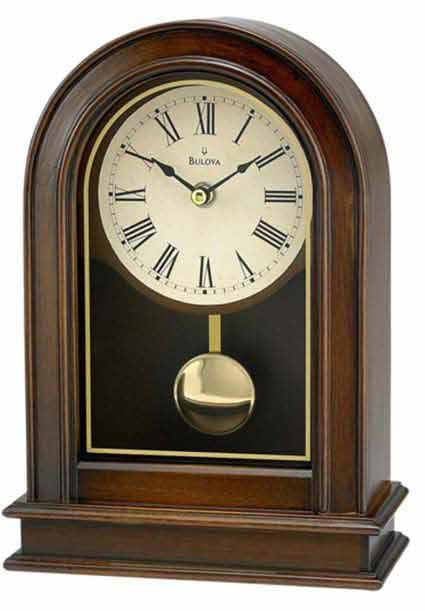 Bulova B7467 Hardwick Non-Chiming Mantel Clock