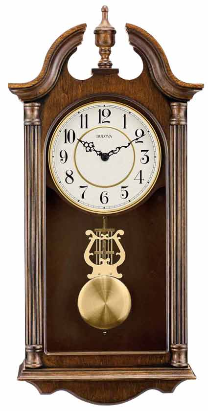 Bulova C1517 Saybrook Quartz Chiming Wall Clock The Clock Depot