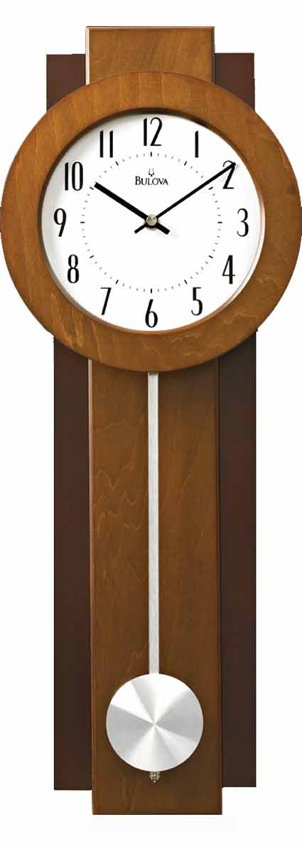 Bulova C3383 Avent Contemporary Wall Clock The Clock Depot