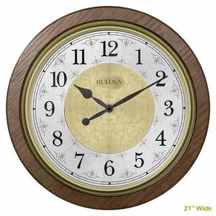 Bulova C4115 Manchester Chiming Wall Clock