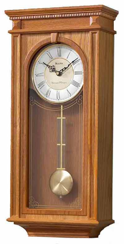 Bulova C4419 Manorcourt II Chiming Wall Clock The Clock Depot