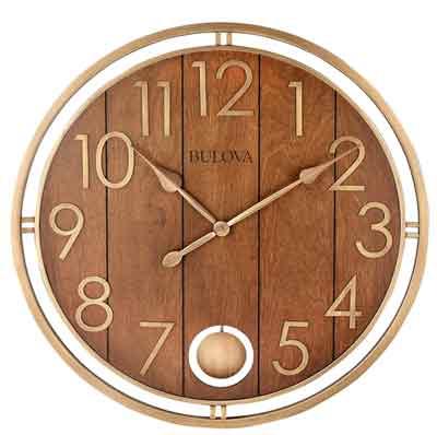 Bulova C4806 Panel Time Large Wall Clock
