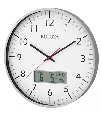 Bulova C4810 Manager Oversized Wall Clock