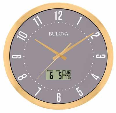 Bulova C4830 Lobby Auto-Set Wall Clock
