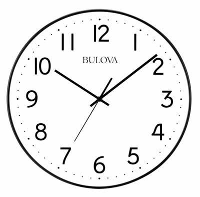Bulova C4832 Office Mate Auto-Set Wall Clock