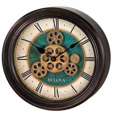 Bulova C4833 Industrial Motion Wall Clock