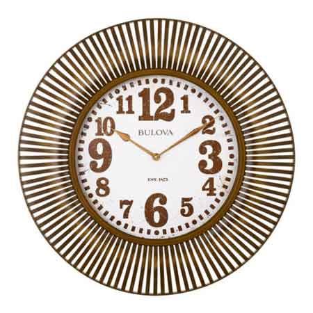 Bulova C4843 Sunburst Wall Clock