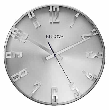 Bulova C4846 Director Aluminum Wall Clock
