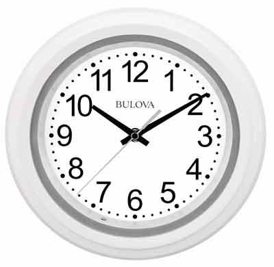 Bulova C4865 Night Vision Illuminated Wall Clock