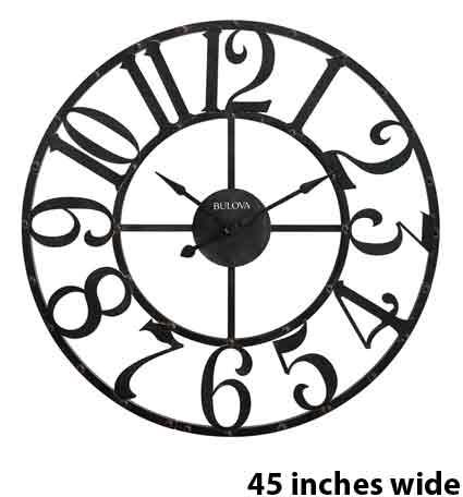 Bulova C4821 Gabriel Large Wall Clock