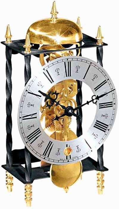 Hermle Galahad 22734-000701 Skeleton Mantel Clock