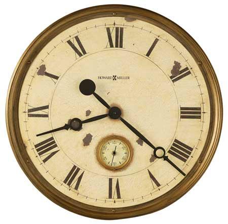 Howard Miller Custer 625-731 Large Rustic Wall Clock