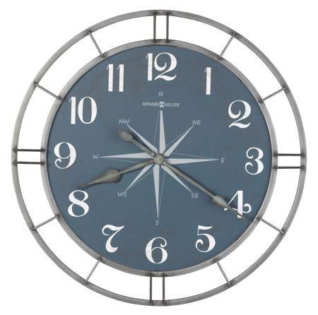 Howard Miller Compass Dial 625-744 Gallery Wall Clock