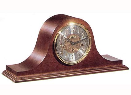 Hermle Laurel 21134-N90340 Cherry Keywound Chiming Mantel Clock