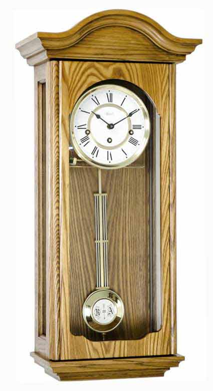 Hermle Brooke 70815-I90341 Oak Keywound Wall Clock