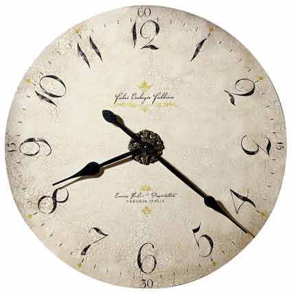 Howard Miller Enrico Fulvi 620-369 Large Wall Clock