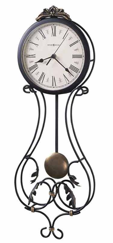Howard Miller 625 296 Paulina Wall Clock Wrought Iron Wall