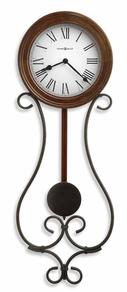 Howard Miller Yvonne 625 400 Wrought Iron Wall Clock