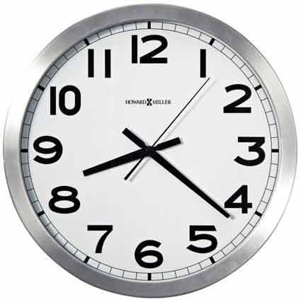 Howard Miller Spokane 625-450 Brushed Silvertone Wall Clock