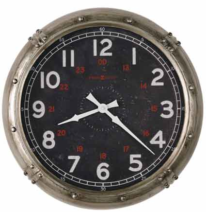 Howard Miller Riggs 625-717 Large Nautical Style Wall Clock