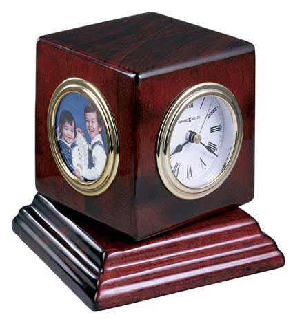 Howard Miller Reuben 645-408 Desk Clock - Photo Frame Clock