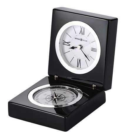 Howard Miller Endeavor 645-743 Polished Black Desk Clock