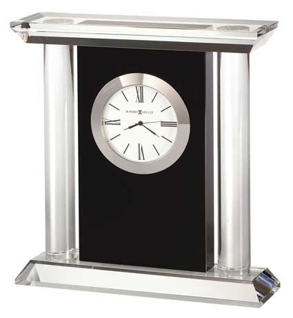 Howard Miller Colonnade 645-745 Crystal Black Desk Clock