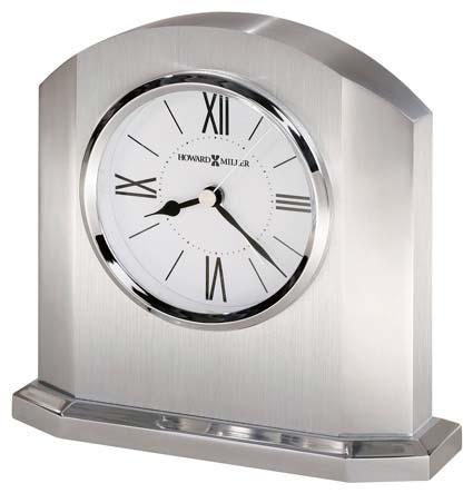 Howard Miller Lincoln 645-753 Solid Aluminum Desk Clock