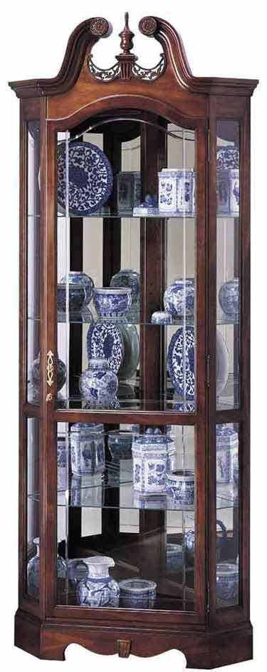 Howard Miller Berkshire 680-205 Corner Curio Cabinet