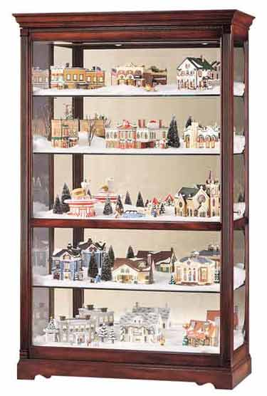 Howard Miller Townsend 680-235 Village Large Curio Cabinet