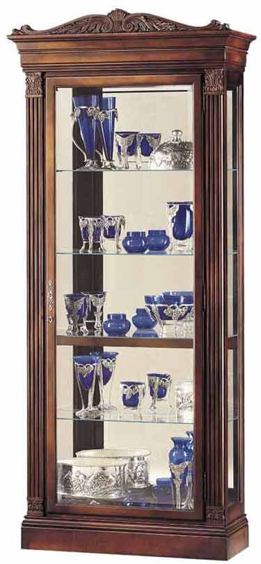 Howard Miller Embassy 680-243 Cherry Collectors Cabinet