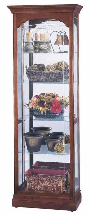 Howard Miller Portland 680-340 Cherry Curio Cabinet