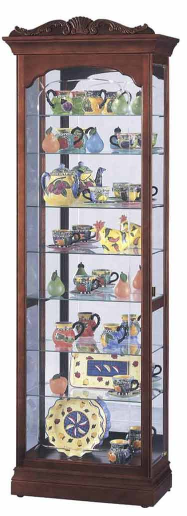 Howard Miller Hastings 680-342 Cherry Curio Cabinet